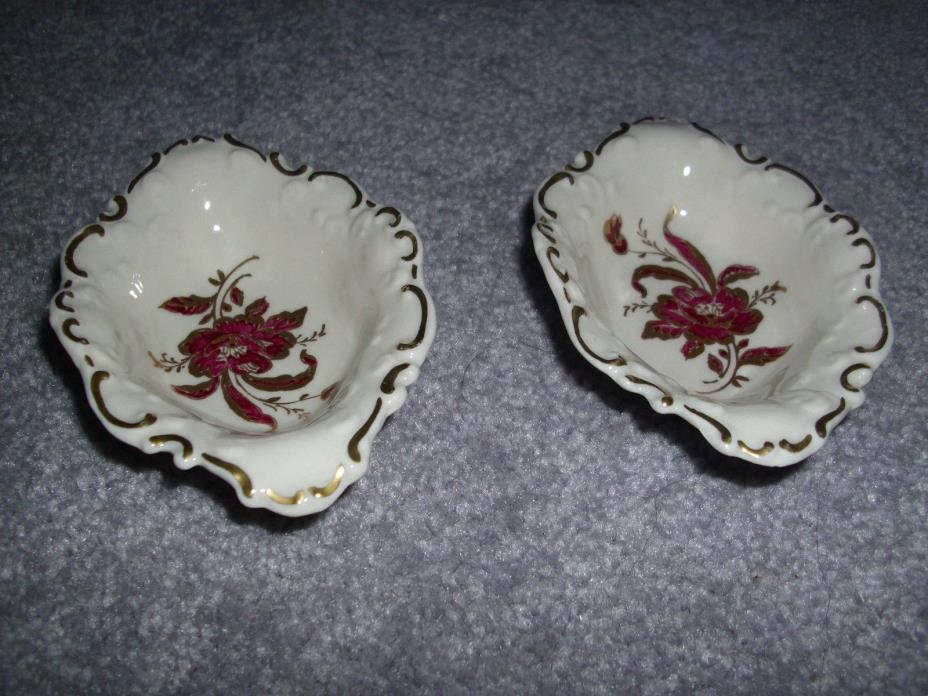 Vintage DeLuxe U.S.A. Fine China Small Nut Hand Painted Bowls