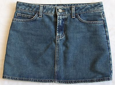 Hurley Juniors Mini Skirt Medium Wash Blue Jean Denim Polycotton Lily Surf USA 1