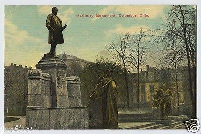 MCKINLEY Monument COLUMBUS Ohio OH POSTCARD