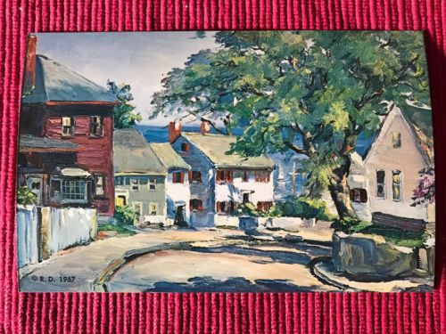 Vintage Maine Postcard 1967 Roger Freeing