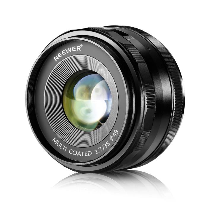 Neewer 35mm f/1.7 Manual Focus Prime Fixed Lens for SONY E-Mount