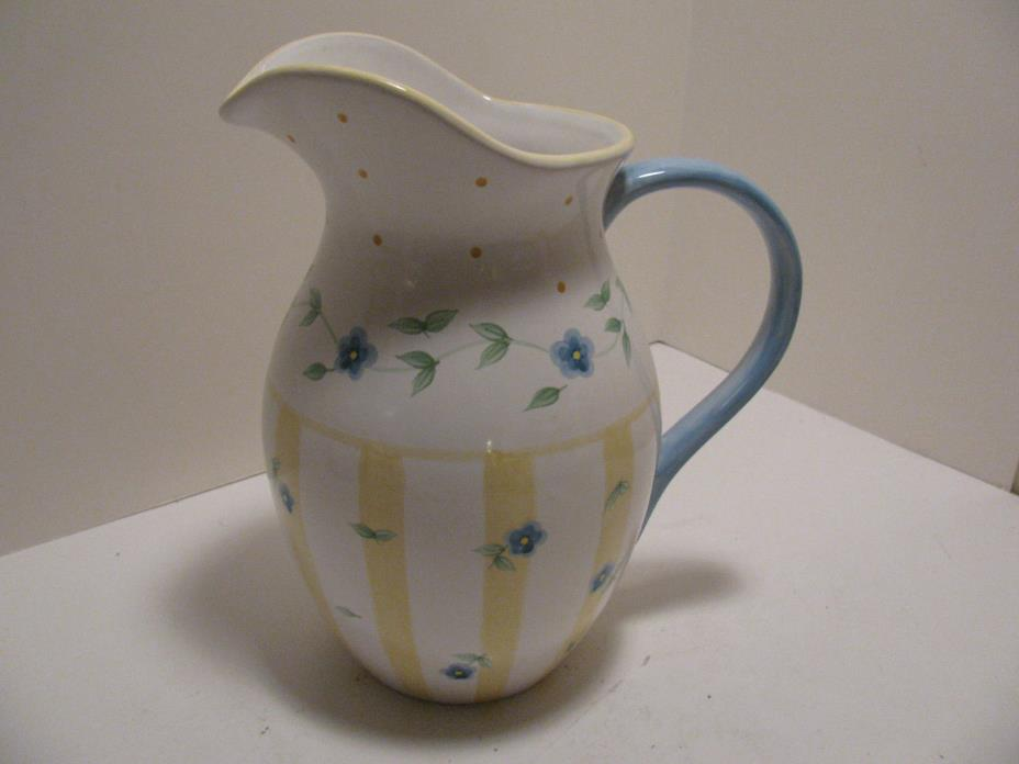 Pfaltzgraff Ceramic Summer Breeze Water Pitcher 10 - 1/2