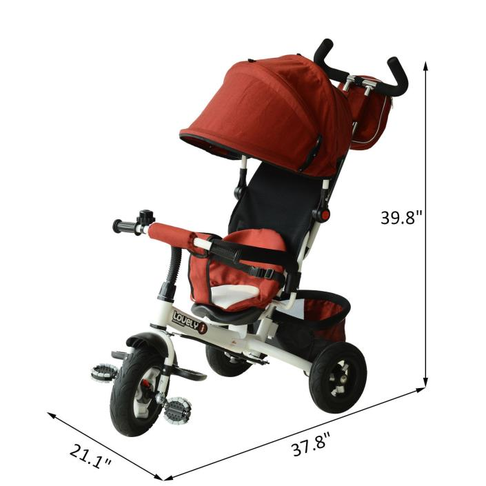 Trike Bike Stroller Tricycle Adjustable Kid Baby Child Toddler Push Ride Toy New