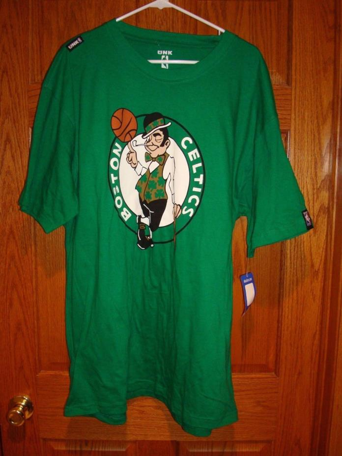 Boston Celtics NBA  Lucky Leprechaun Green UNK T-Shirt 3XL  100% Cotton NWT