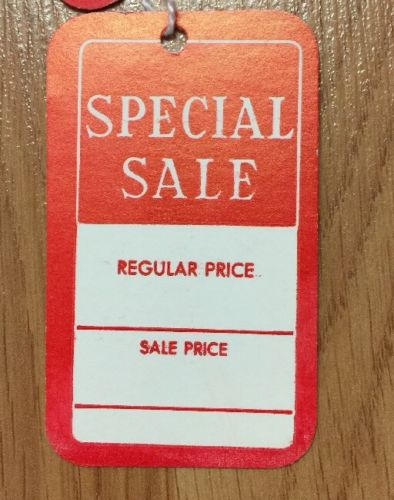 Lot Of 185 SPECIAL SALE Tags With Strings Red New