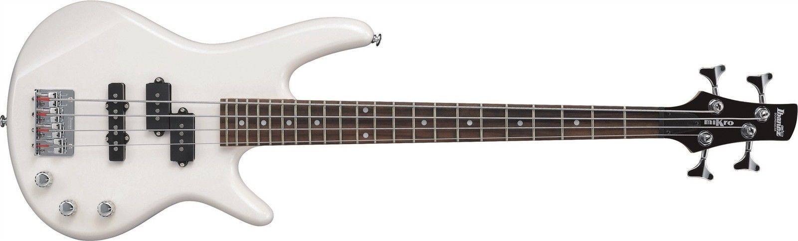 Ibanez GSRM20PW miKro Compact Student Beginner Electric Bass Guitar with Gig Bag