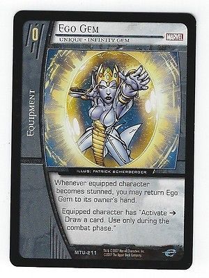 Ego Gem Unique Infinity Gem Normal VS System Marvel Team Up MTU-211 CCG TCG