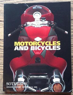 Sotheby's Motorcycles Bicycles Auction Catalog 1999 Ducati MH900e proto foldout*