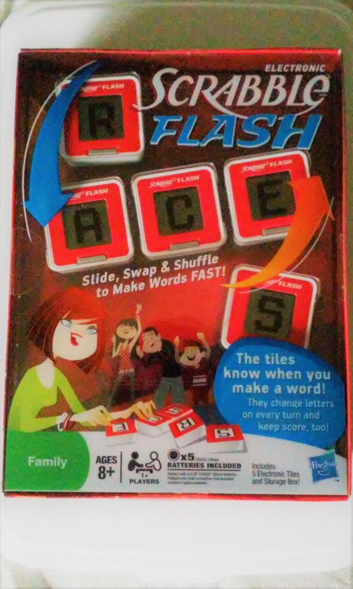 NEW Hasbro ELECTRONIC SCRABBLE FLASH WORD GAME Family Fun