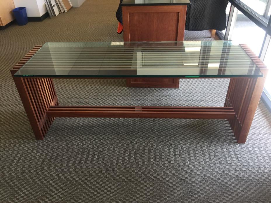 Frank Lloyd Wright Style Mid-Century Modern Console Table