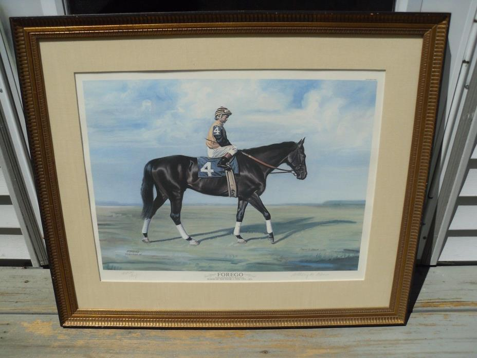 ANTHONY ALONSO FOREGO 4 Horse of the Year PRINT SHOEMAKER 1978 ARTIST PROOF 32