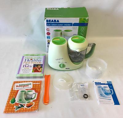 Beaba 2066 Baby Cook 4 In 1 Steam Cooker Blender Food Maker + BONUS RECIPE BOOK