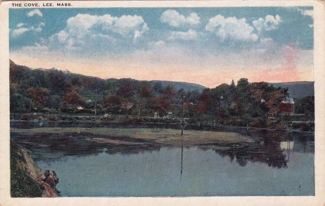 POSTCARD - The Cove, Lee, Mass.