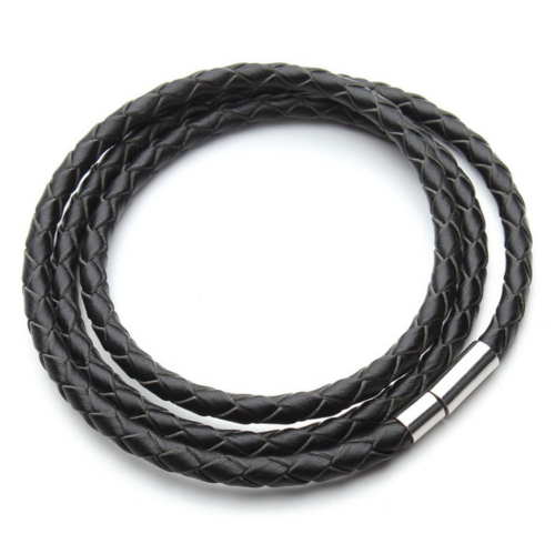 Men's Leather Bracelet Black