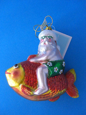Summer Santa Riding a Big Fish