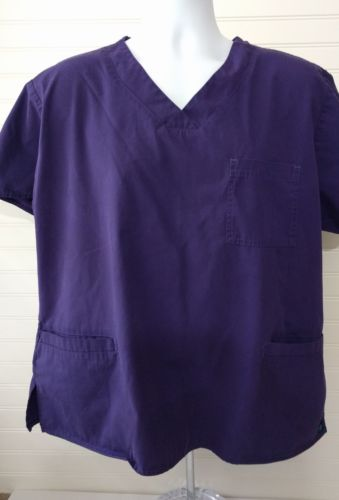 Maeven Scrub Top Womens Size XL Purple 25