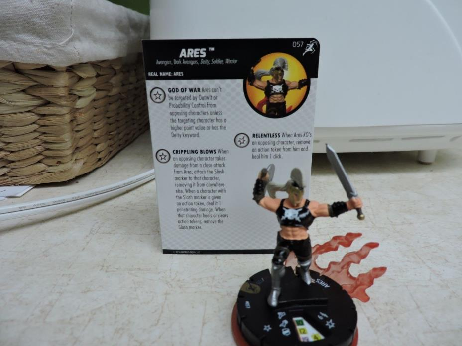 Ares 057 Super Rare Heroclix Superior Foes of Spider-Man