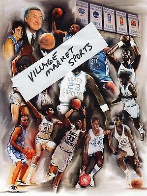 UNC TARHEELS Basketball Coach DEAN SMITH & Star Players 8x10 Photo Print JORDAN
