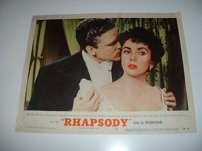 RHAPSODY- TAYLOR- 1954  LOBBY CARD #5