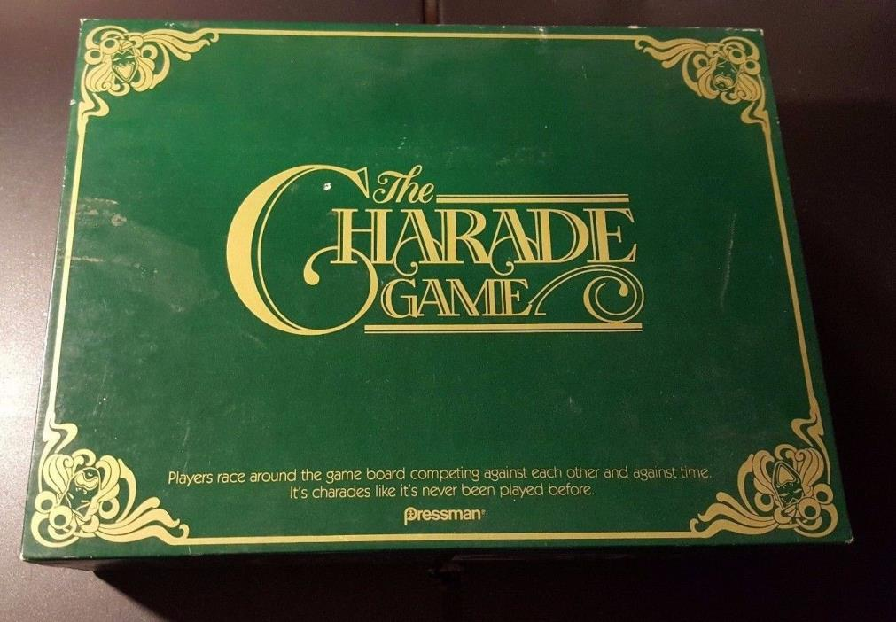 vintage THE CHARADE GAME PRESSMAN  1985  Complete!!   EXCELLENT condition!
