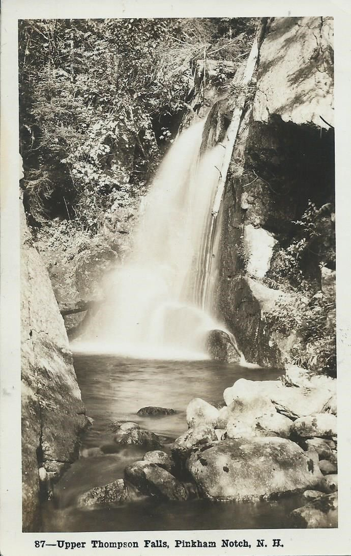 RPPC.  Pinkham Notch, New Hampshire, Upper Thompson Falls.  Unused Postcard.