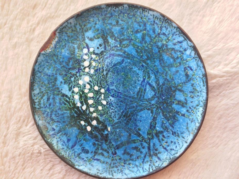 Mid century modern copper enamel 4