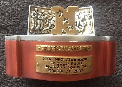 2006 Chicago BEARS NFC Championship George Halas Replica TROPHY NFL Football NEW