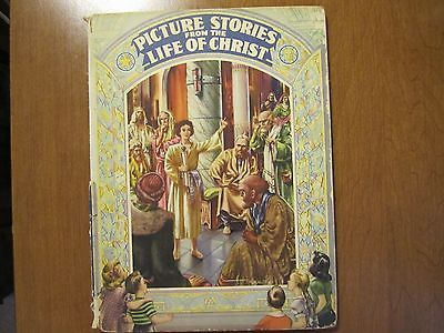 PICTURE STORIES FROM THE LIFE OF CHRIST ~ 1946 ~ WARNER KREUTER Paintings ~ DJ