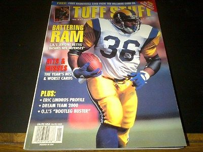 January 1995 Tuff Stuff Guide Jerome Bettis HOF Rams Cover NM Magazine 288 pgs