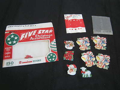 Vintage Dennison Five Star Christmas Seals