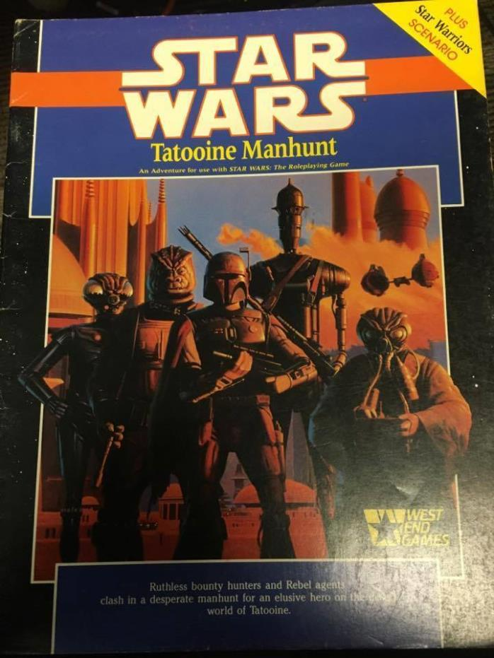 1988 West End Games STAR WARS tatooine manhunt roleplaying game