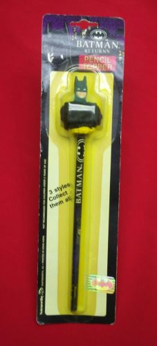 Vintage 1991 Batman Returns Pencil and Pencil Topper