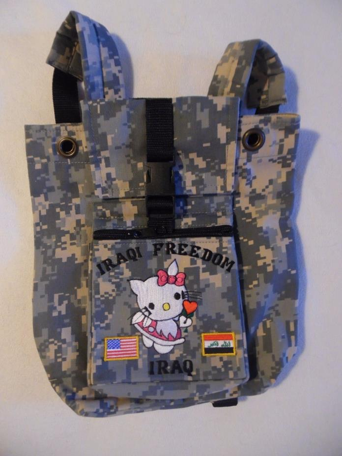 Hello Kitty Camo Backpack purse tote, bought in Iraq while on tour of duty
