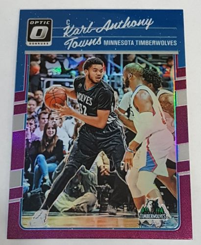 2016-17 Donruss Optic Purple Holo Karl-Anthony Towns Prizm Timberwolves SP