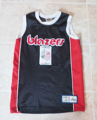 Youth Large Retro Portland Trail Blazers Majestic Hardwood Classics Sewn Jersey