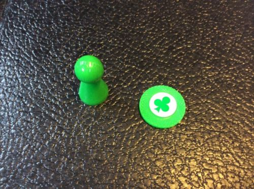 The Trumpet Game Replacement Parts Mover And Token Green