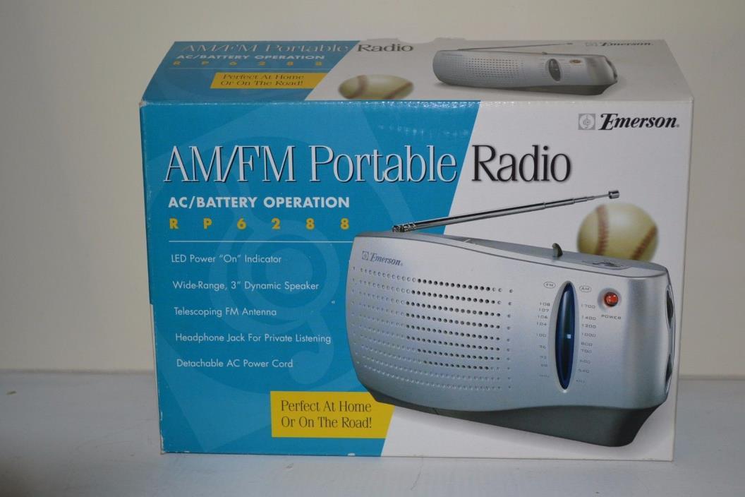 VINTAGE EMERSON AM/FM PORTABLE RADIO RP6288 NEW