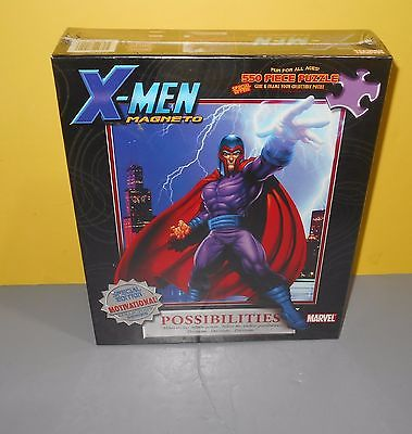 New Masterpieces Puzzle Marvel X-Men Magneto Collector's Series 550 Piece Puzzle