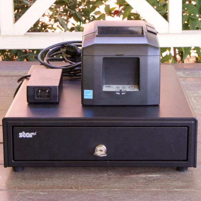 STAR Micronics Point Of Sale Cash Drawer & Thermal Printer $330 Value