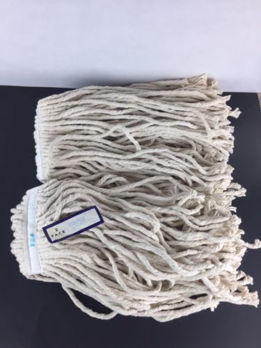 LOT OF 4 PROFESSIONAL COTTON MOP HEAD 24 OUNCE COSTCO BRAND #24