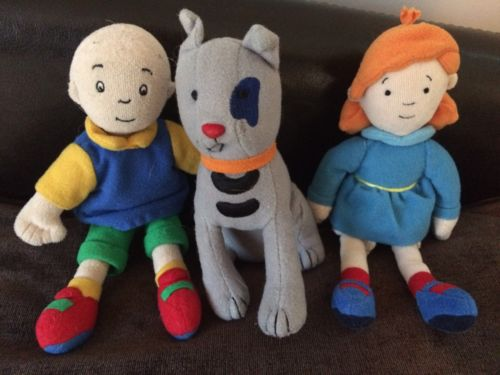 Caillou, Rosie And Gilbert Fabric Plush Dolls RARE 7inch