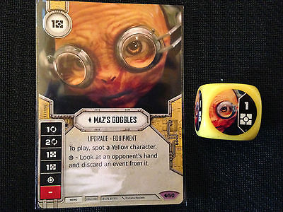Maz's Goggles (SoR) - Star Wars Destiny Singles - Near Mint Card and Die