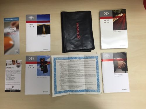 Toyota Rav4 2014  Owners Manual Book Set/  /In Case // FREE SHIPPING