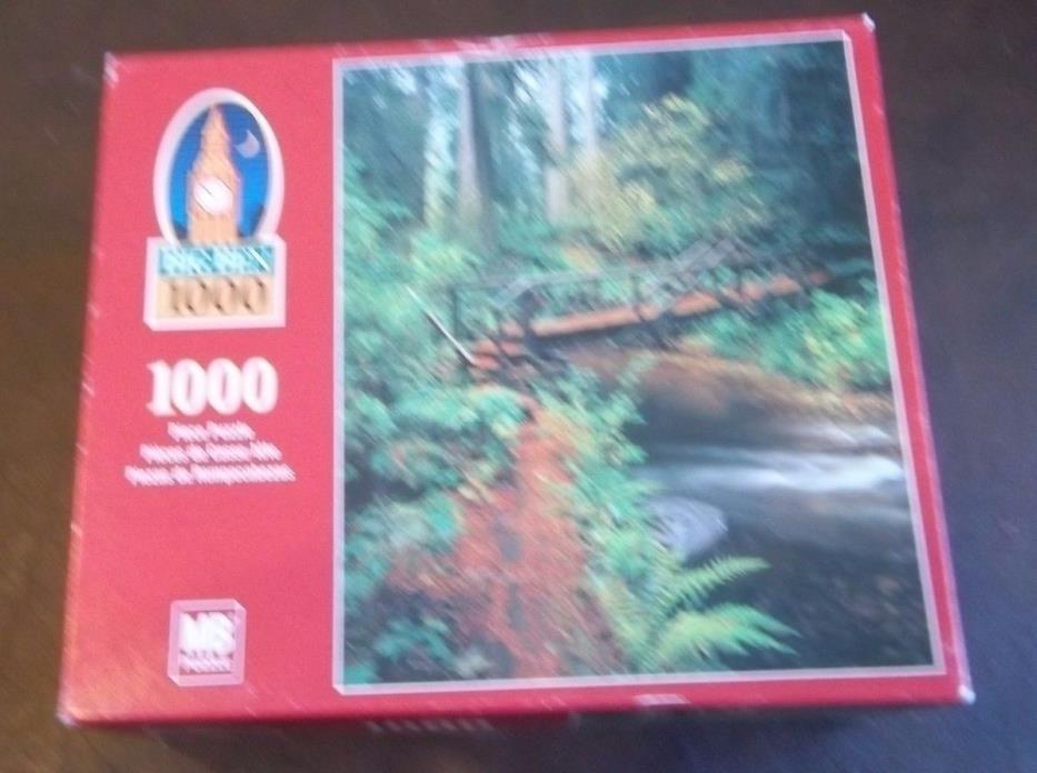 Milton Bradley 1000  piece puzzle: Prairie Creek Trail, CA