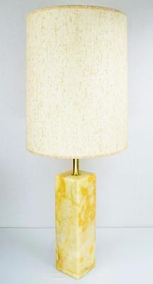 Vtg MCM 50's Walter Von Nessen Studios Calacatta Marble Table Lamp Widdicomb Era