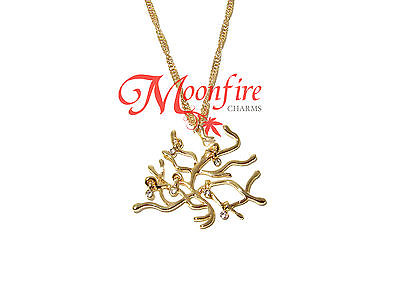 BEAUTY AND THE BEAST BELLE ELEGANT ENCHANTED TREE CHAIN PENDANT NECKLACE