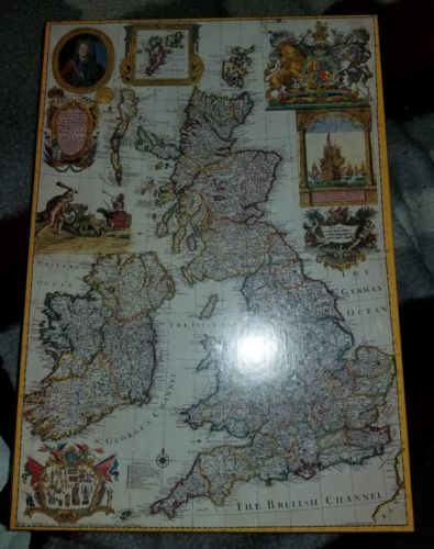 NIB - British Isles 1715 1000 pc Puzzle - Past Times - Oxford, England - 27x19