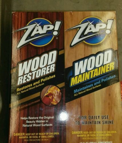 ZAP! - WOOD RESTORER / WOOD MAINTAINER - 10 FL OZ EACH