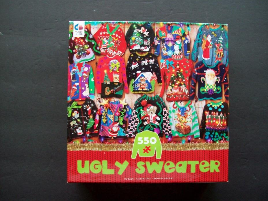 Ugly Sweater Jigsaw Puzzle 500 Pieces Christmas Sweater 2016 Ceaco
