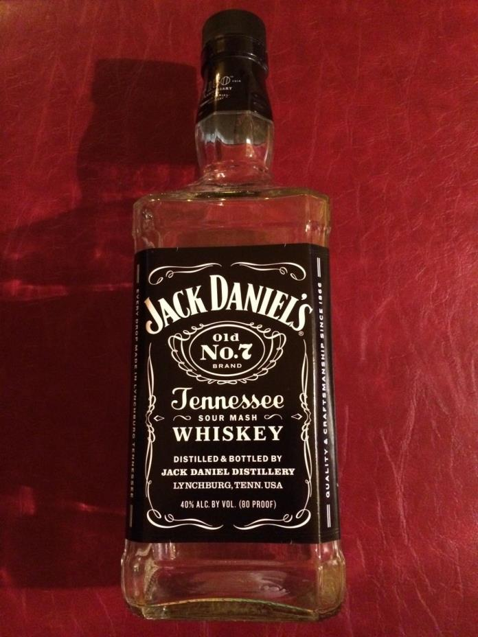 Jack Daniels Old No. 7 Bottle 1.75 LITER 150 Year Anniversary Label EMPTY